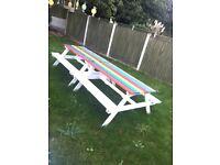 2 x garden benchs