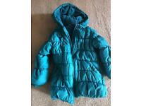 Girls winter coat aged 4-5