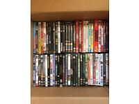 DVDs films and music