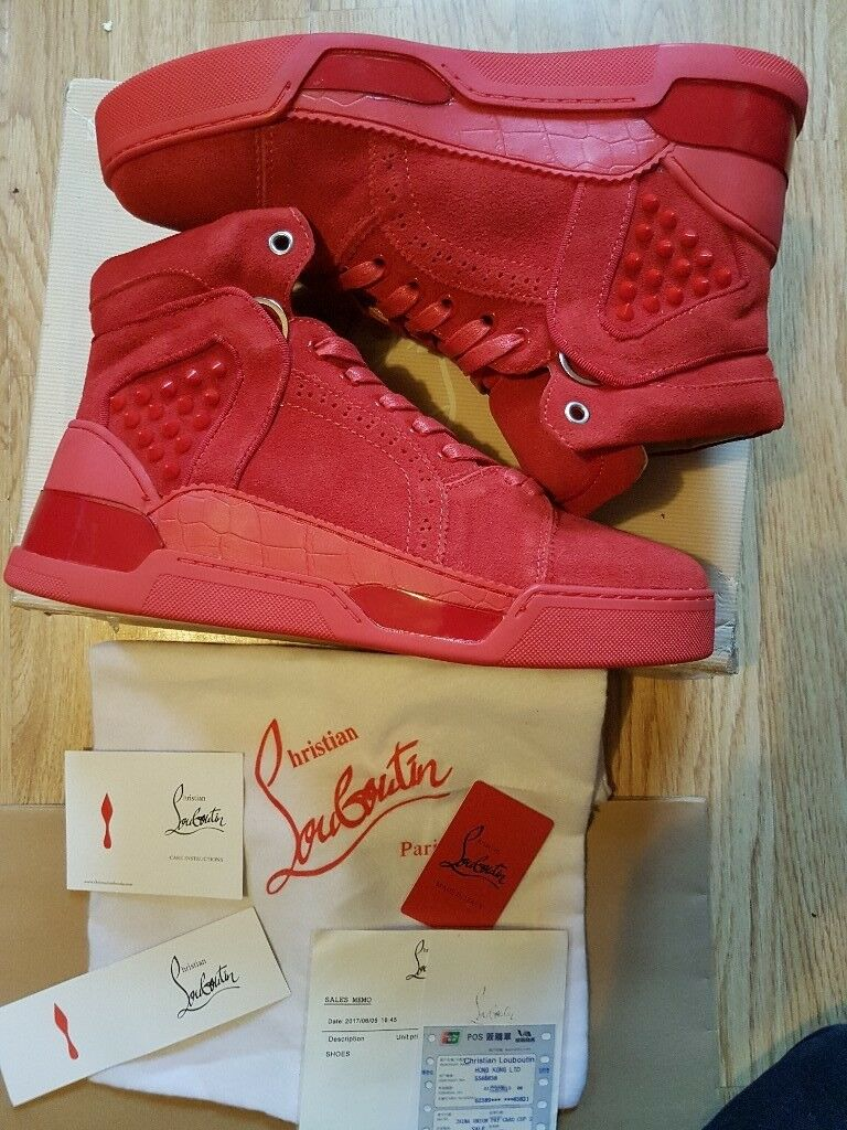 f65b54d2457a Christian Louboutin- Men s Loubikick Sneakers (Red Suede)