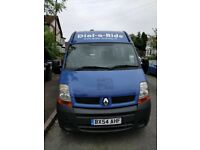 LWB Renault Master Minibus. lovely condition and low miles. Perfect for camper conversion
