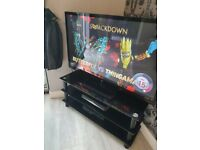 LG PLASMA TELEVISION 50 INCH FAB COND CONTROLS AND BLACK GLASS UNIT