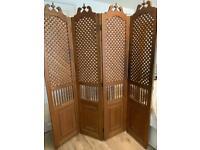 Solid wood room divider