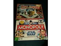 Monopoly Limited edition Scotland and Star Wars the Clone Wars
