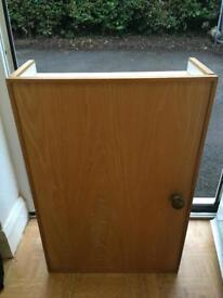 Oak veneer cupboard/storage