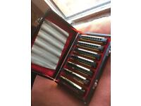 Gold swan blues 7 harmonica set boxed