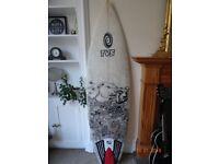 Tunnel Vision Surfboards 6ft2 Quad Shortboard