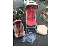 Maclaren pushchair stroller & car seat travel system