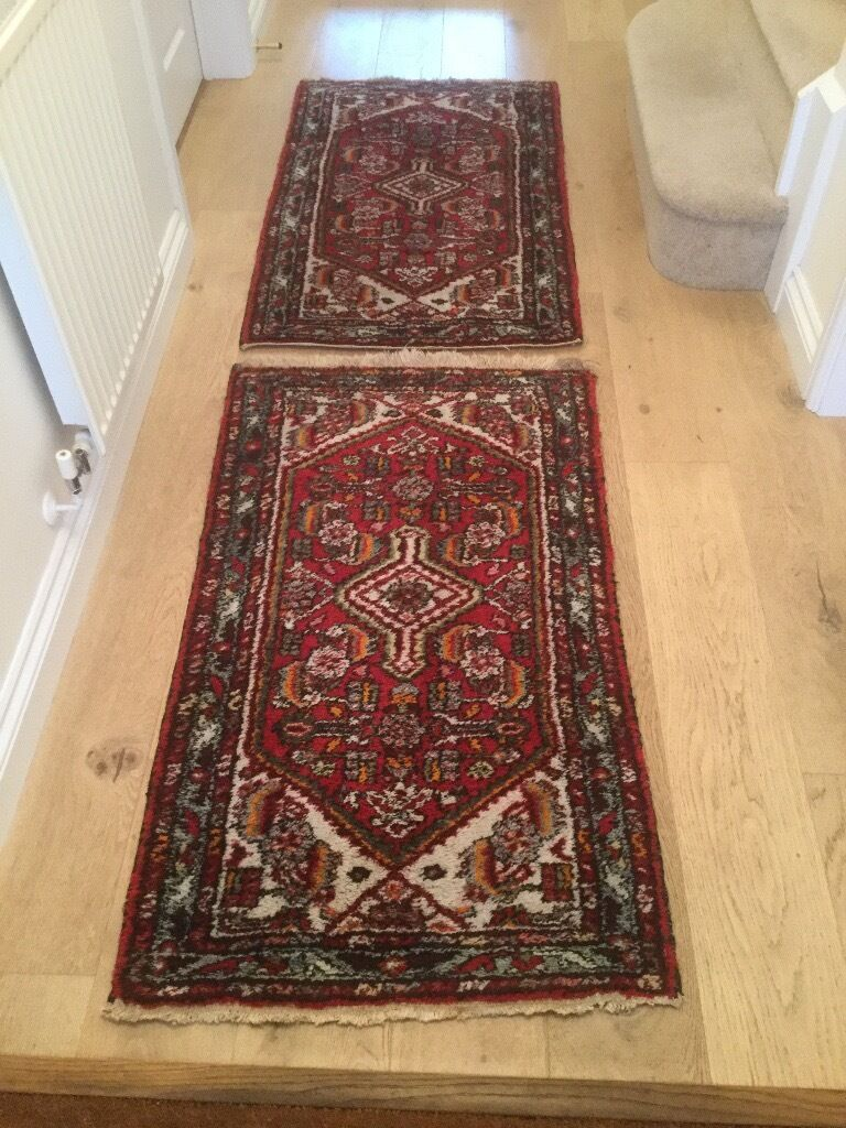 1 Pair Small Iranian Rugs Larger Probably Persian Rug Almost