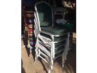 12 x aluminium stacking chairs