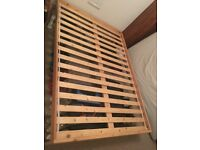 Wooden Ikea Double Bed Frame