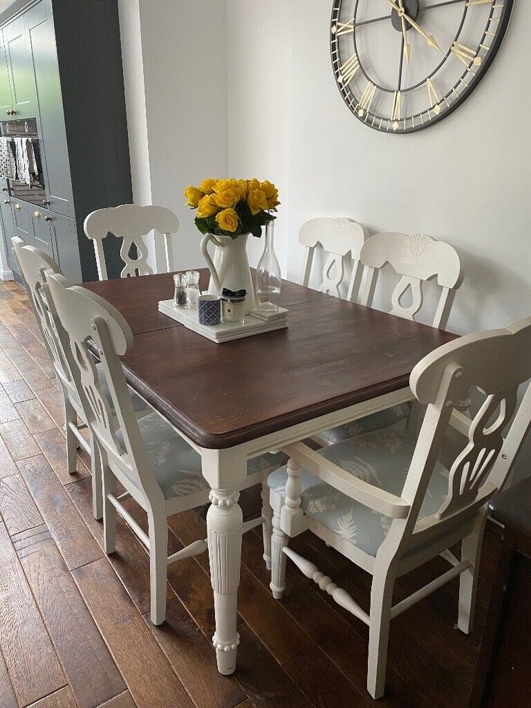 Farmhouse Style Dining Table with 6 Chairs | in Poole ...
