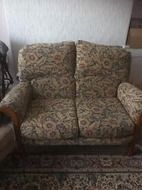 3 piece suite, sofa two chairs