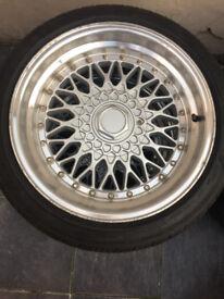 "multifit Dare BBS RS Alloy wheels 17"" inch x 8.5j 5x100 5x112 215 45 17 vw audi bmw mercedes subaru"