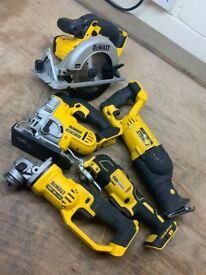 Dewalt cordless 18v kit grinder jigsaw multi tool recip saw circular saw cordless