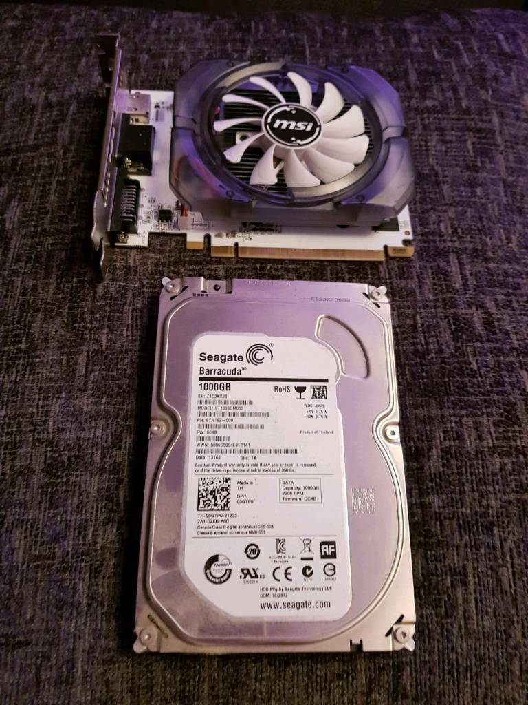 Graphics card and hard drive