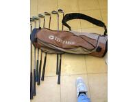 Set of golf clubs no driver