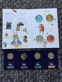 2017 Beatrix Potter Set of Coins with Album BNUC