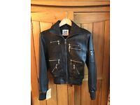 Ladies Genuine Leather jacket UK Size 8 - black