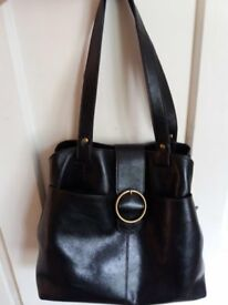 Dark Brown Leather Marks and Spencer Handbag