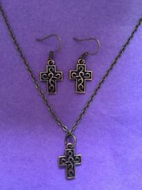 Handmade Bronze Cross Gift Set