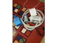 , Heater, Filter, Wave Machine, for large 10ft garden pool including some hoeses.
