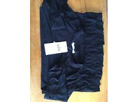 M&S brand new with tags girls black top with frills age 10-11