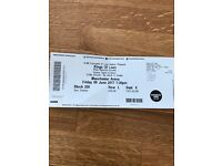 X2 seated kings of Leon tickets, Manchester 9th june
