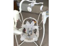Graco loving hug baby swing in nutmeg