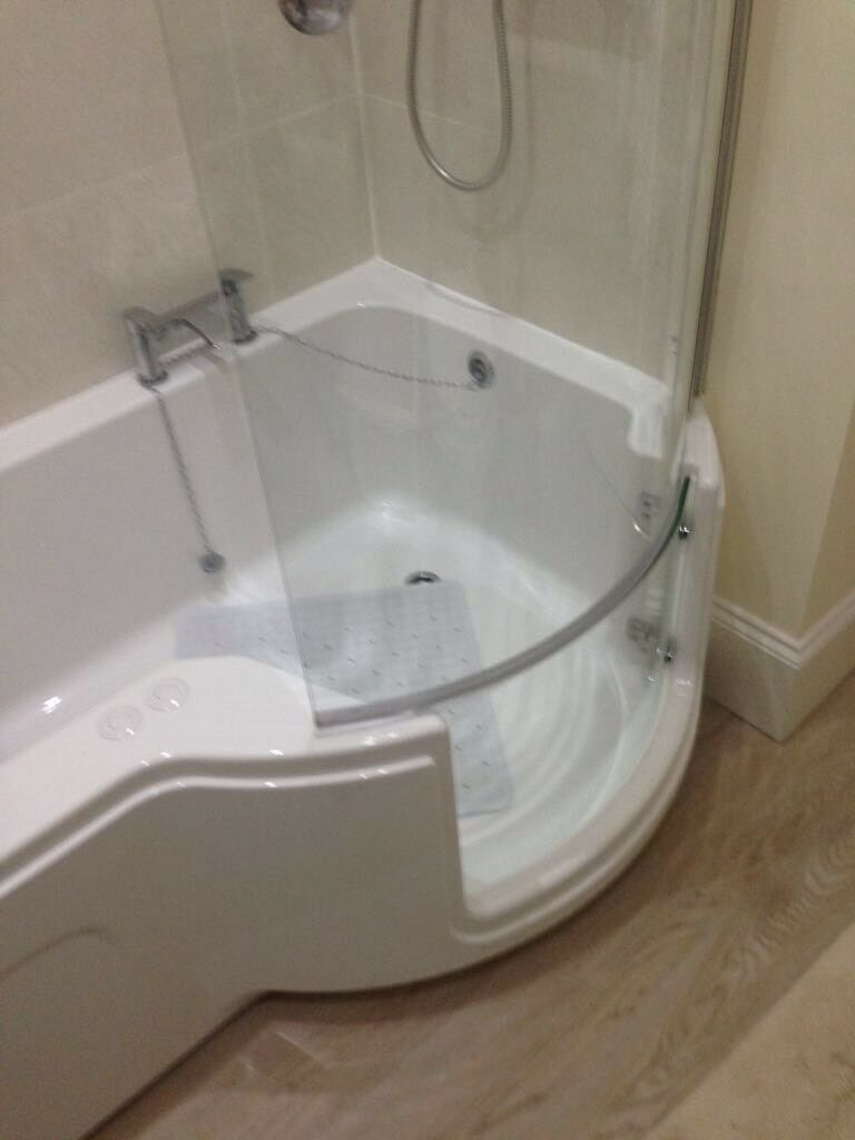 Disabled walk in shower bath with integrated electric lift seat | in ...
