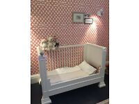 BEAUTIFUL white unisex COT BED (0-6years)