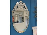Mirrors and glass lamps - as new - Maisons du Monde