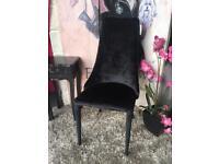 New Black Velvet Occasional Chair