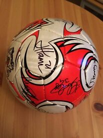 Signed Exeter City FC leather football