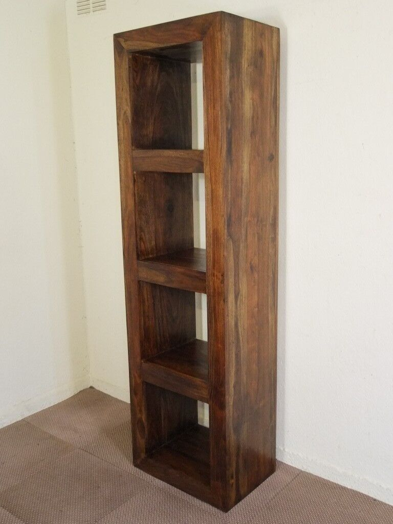 Solid Sheesham Wood Tall Cube Design Bookcase Shelves Free Delivery Edinburgh Glasgow Tayside Fife In South Queensferry Edinburgh Gumtree