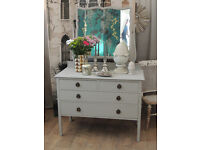 Shabby chic Edwardian dressing table with mirror