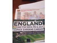 INDIA vs ENGLAND T20 CARDIFF - 6TH JULY X2