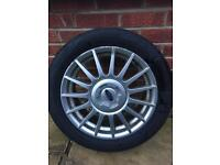 4 x Ford Fiesta Mk5 Zetec S alloys and tyres
