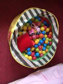 Ballpit full of balls and sensory toys £6