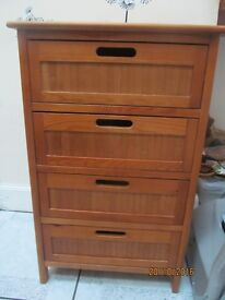 SMALL 4 DRAWER CABINET IN VGC VERY LIGHT