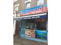 FOR SALE KEBAB SHOP AND SOCIAL CLUB