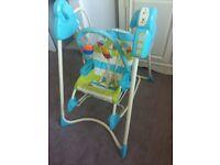 Fisher Price Swing Rocker 3 in 1 Baby Toddler Seat