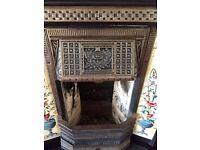 Cast Iron Fireplace & Mahogany Surround