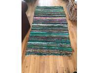Indian Arts Fair Trade Rag Rug 160cmx90cm
