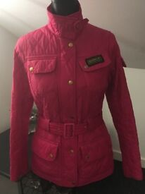 Genuine bright pink Barbour jacket