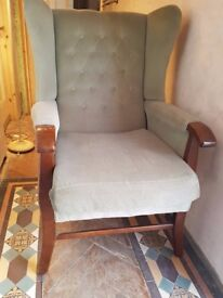 Winged Back,Fireside, Victorian/Queen Anne Vintage Antique Style ArmChair