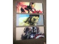 3x avenger canvas'