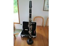 Buffet B flat Clarinet, new case, stand and battery operated metronome.