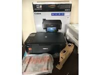 New printer Canon Pigma MG4250 with ink cartridges