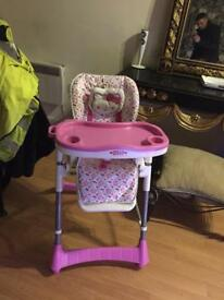 Hello kitty baby feeding chair an playing seat